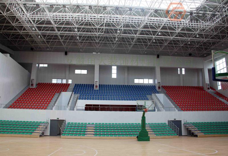 安徽建筑大学篮球馆室内铝单板案例