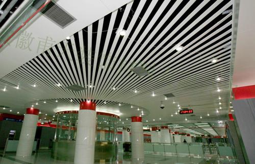 室外铝单板幕墙案例—天津轨道1号线